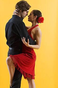 Hispanic couple dancing
