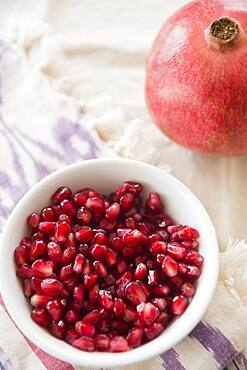 Close up of pomegranate and seeds