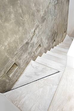 High angle view of concrete steps