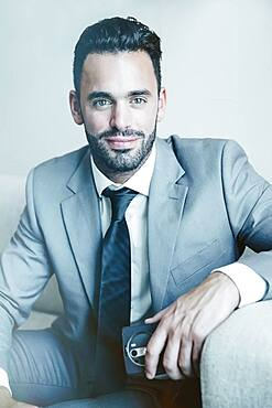 Close up of businessman smiling