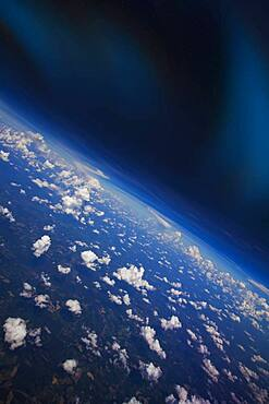 Clouds in Earth atmosphere viewed from space