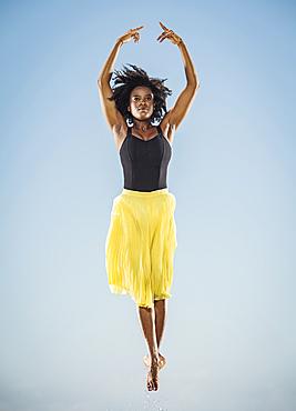 Black woman ballet dancing