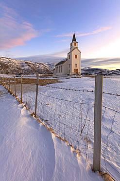 Church of Hillesoy, Brensholmen, Troms county, Norway, Scandinavia, Europe