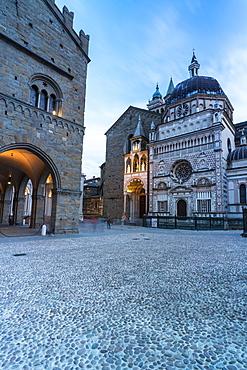 Colleoni Chapel and Basilica Santa Maria Maggiore, Piazza del Duomo square, Citta Alta (Upper Town), Bergamo, Lombardy, Italy, Europe