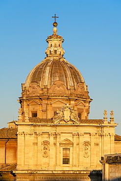 Dome of San Giuseppe dei Falegnami church, Imperial Forum (Fori Imperiali), Rome, Lazio, Italy