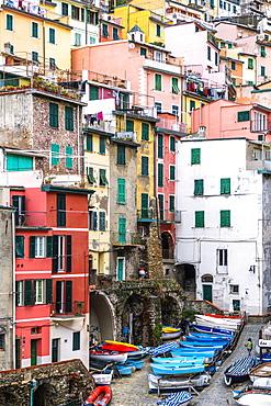 Riomaggiore, Cinque Terre, UNESCO World Heritage Site, La Spezia province, Liguria, Italy, Europe