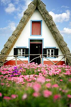 Traditional house in Santana, Madeira, Portugal, Atlantic, Europe