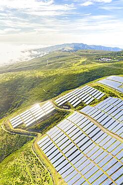 Solar panels, Encumeada, Madeira island, Portugal, Atlantic, Europe - 1179-5137