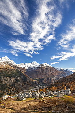 The picturesque villages of Starleggia and San Sisto in the Spluga Valley, Valchiavenna, Lombardy, Italy, Europe