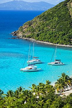 View over White Bay, Jost Van Dyke, British Virgin Islands, West Indies, Caribbean, Central America