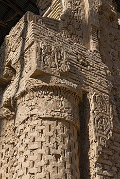 Detail of columns and arches, Haji Piyada Mosque (Noh Gonbad Mosque), Balkh, Afghanistan, Asia