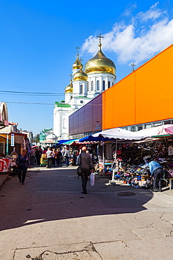 Cathedral of the Nativity of the Theotokos behind the bazaar, Rostov-on-Don, Rostov Oblast, Russia, Eurasia
