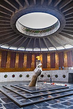 Eternal flame on Mamayev Kurgan, Volgograd, Volgograd Oblast, Russia, Eurasia