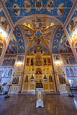 Interior of the All Saints Cathedral in the Kremlin of Tula, Tula Oblast, Russia, Eurasia