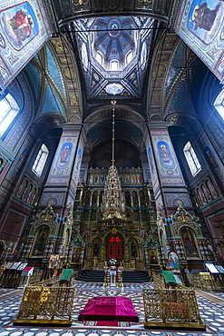 Interior of the Yelets Cathedral, Yelets, Lipetsk Oblast, Russia, Eurasia