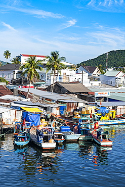 Fishing boats in the Duong Dong Fishing Harbour, island of Phu Quoc, Vietnam, Indochina, Southeast Asia, Asia