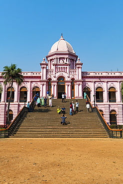 Entrance of the Pink Palace, Ahsan Manzil, Dhaka, Bangladesh, Asia