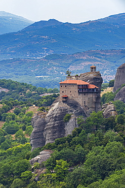 Holy Monastery of St. Nicholas Anapafsas, UNESCO World Heritage Site, Meteora Monasteries, Greece, Europe