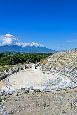 Amphitheatre, Philippi, UNESCO World Heritage Site, Macedonia, Greece, Europe