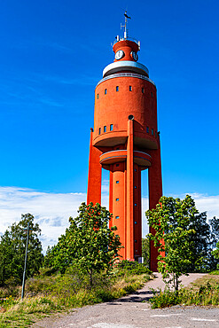 Old water tower now an observation platform, Hanko, southern Finland, Europe