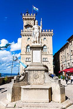 Palazzo Pubblico, historic center, Unesco world heritage site San Marino, Italy