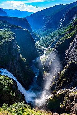 Voringvossen waterfall, Eidfjord, Norway