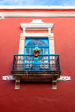 Colonial buildings, Unesco world heritage site the historic fortified town of Campeche, Campeche, Mexico