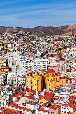 View over the UNESCO World Heritage Site, Guanajuato, Mexico, North America