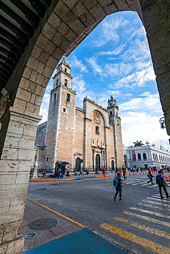 Merida cathedral, Merida, Yucatan, Mexico