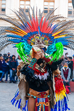 Tzotzil dancers performing for tourists, San Cristobal de la Casas, Chiapas, Mexico, North America
