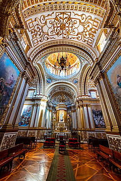 Interior of the Monastery Franciscano de Nuestra Senora de Guadalupe, UNESCO World Heritage Site, Zacatecas, Mexico, North America