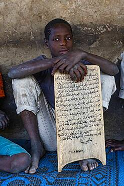 Boys in a Medressa with holy Quran, Kano, Kano state, Nigeria, West Africa, Africa