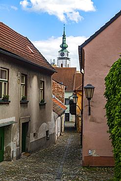 Unesco site Jewish Quarter and St Procopius' Basilica in Trebíc, Czech Republic