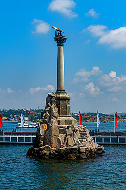 Monument to the Sunken Ships in Sevastopol,,Sewastopol, Crimea, Russia