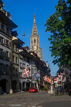 Muenstergasse, old city of Berne, UNESCO World Heritage Site, Switzerland, Europe