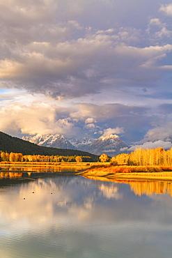 Oxbow Bend, Teton Range, Grand Teton National Park, Wyoming, United States of America, North America