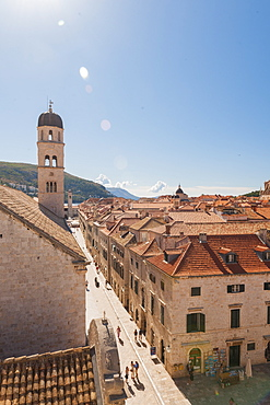 Old town from the city walls, UNESCO World Heritage Site, Dubrovnik, Croatia, Europe