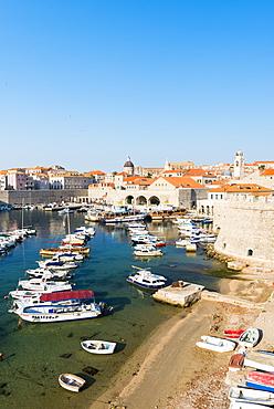 Dubrovnik Harbour, UNESCO World Heritage Site, Dubrovnik, Croatia, Europe