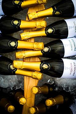 Wedding images, bottles of prosecco, United Kingdom, Europe