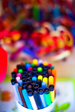 Pens in school, United Kingdom, Europe