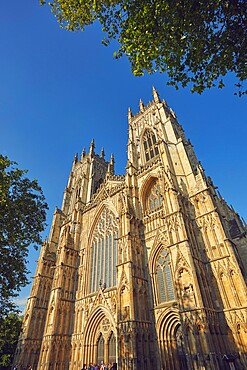 York Minster, the cathedral in the historic heart of the city of York, Yorkshire, England, United Kingdom, Europe
