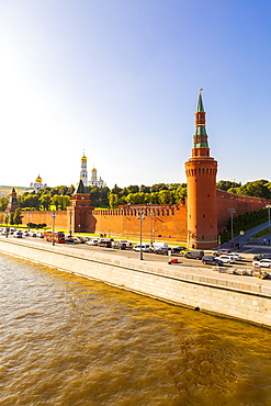 The Kremlin, UNESCO World Heritage Site, and Moscow River, Moscow, Russia, Europe