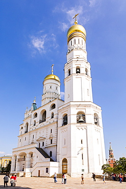 Ivan the Great Bell Tower in the Kremlin, UNESCO World Heritage Site, Moscow, Russia, Europe