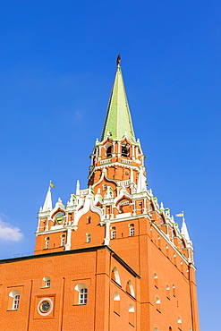 Trinity Gate Tower of the Kremlin, UNESCO World Heritage Site, Moscow, Russia, Europe