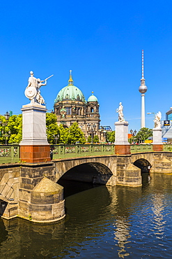 Schlossbrucke bridge by Berlin Cathedral in Berlin, Germany, Europe