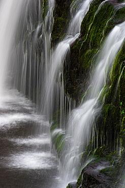 Sgwd y Pannwr waterfall, Pontneddfechan, Brecon Beacons, Powys, Wales, United Kingdom, Europe