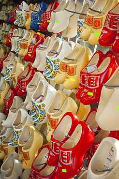 Clogs on display in a tourist shop, Amsterdam, The Netherlands, Europe