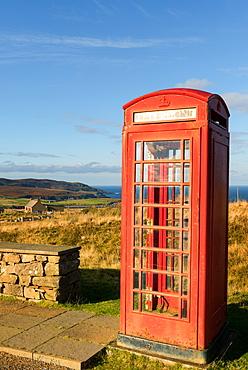 Old Telephone Box, Scottish Highlands, Scotland, United Kingdom, Europe