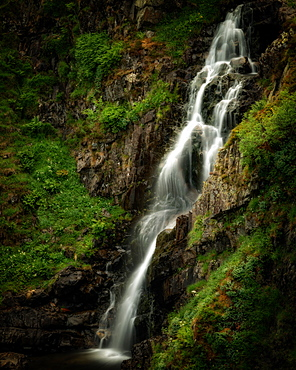 Grey Mare's Tail waterfall, Dumfries and Galloway, Scotland, United Kingdom, Europe