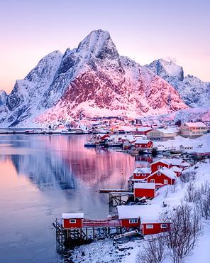Sunrise at Reine, Lofoten Islands, Nordland, Norway, Europe